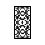 Protector Aluminium 940 x 1240mm ACP Profile 10 Decorative Panel Framed - Black