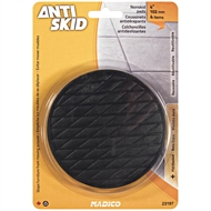 Madico 102mm Black Round Antiskid Floor Protector Pad - 4 Pack