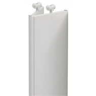 Pillar Products 11.5 x 240cm White Havana PVC Concertina Door Panels - 2 Pack