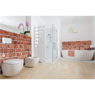 Bellessi 920 x 2000 x 4mm Motiv Polymer Bathroom Panel - Red Wall