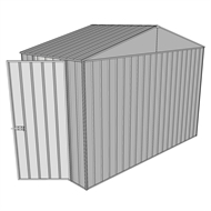 Build-a-Shed 3.0 x 1.5 x 2.3m Gable Single Hinged Side Door Shed - Zinc