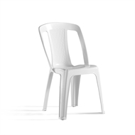 Marquee White Elba Resin Bistro Chair