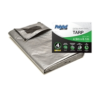 Polytuf 4.9 x 6.1m Ultra Heavy Duty D-Ring Tarpaulin