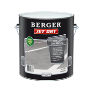 Berger Jet Dry 4L White One Coat Line Marking Paint