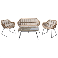 Hartman 4 Piece Brisbane Outdoor Lounge Setting