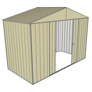 Build-a-Shed 3.0 x 1.5 x 2.3m Double Sliding Door Shed - Cream