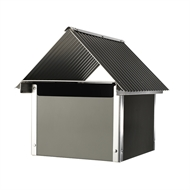 Sandleford Woodland Grey Seaford Post Mount Letterbox