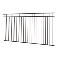 Protector Aluminium 2450 x 900mm Custom Double Top Rail 2 Up 2 Down Fence Panel