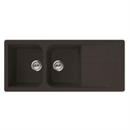 Mondella Black Vivace Drop In Sink Double Bowl with Drainer