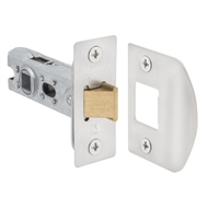 Delf Tubular Latch 45mm Backset Satin Chrome