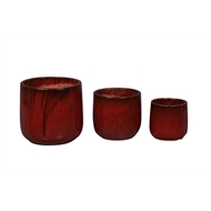 Northcote Pottery 27 x 27cm Wine Red Glazed Oslo Drum