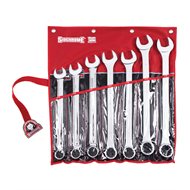 Sidchrome 7 Piece A/F Ring & Open End Spanner Set