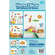 Boyle Home Decor Self-Adhesive 3D Stickers - Safari Animals In Knitwear