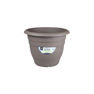 Northcote Pottery 400mm Taupe Villa Round Plastic Pot