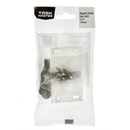 Taskmaster 67mm Magnetic Push to Open Double Door Catch - White