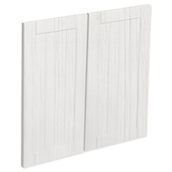 Kaboodle 600mm White Forest Country Rangehood Cabinet Door - 2 Pack