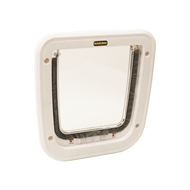 Hakuna Pets White 4 Way Locking Cat Flap