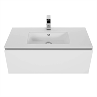 Cibo Design 900mm White Slide Vanity