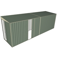 Build-a-Shed 1.5 x 6.0 x 2.0m Single Sliding Side Door Skillion Shed - Green
