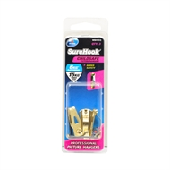 Zenith 6 / 15kg Brass Plated SureHook Childsafe Picture Hanger - 3 Pack