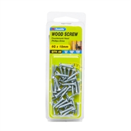 Zenith 6g x 18mm Zinc Plated Countersunk Head Wood Screws - 45 Pack