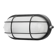 Brilliant Lighting 7.5W Black LED Oval Caged Bunker Light