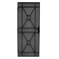 Bastion 2024 x 806mm Gloss Black Sutton Imperial Steel Frame Security Screen Door