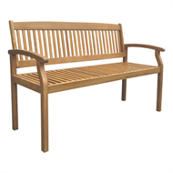 Mimosa 130cm Hampsted Timber Bench