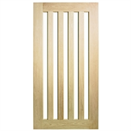 Corinthian Doors 1020 x 2340 x 40mm Blonde Oak AWOWS 5VG Translucent Glass Entrance Door