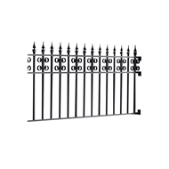 Masterworks 2300 x 40 x 900mm Kensington Half Fence Panel Set