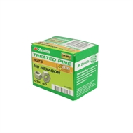 Zenith M8 Treated Pine Hex Head Nuts - 50 Pack