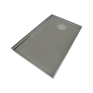 Showerline 900 x 1400mm Rear Outlet Shower Tile Tray (4 Sided)