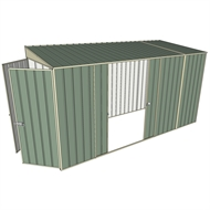 Build-a-Shed 1.5 x 3.7 x 2m Double Sliding Side Door Skillion Shed - Green