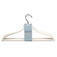 Braiform White Wood Clothes Hanger - 4 Pack