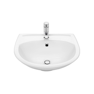 Stylus White Symphony Wall Basin With 1 Tap Hole