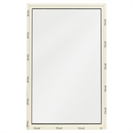 Polar Eco-View 600 x 945mm White Birch Frosted Glass Fixed Panel Double Glazed Window