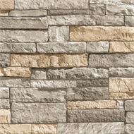 Superfresco Easy 52cm X 10m Ledgestone Grey/Terracotta