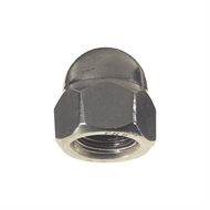 Hobson M12 Galvanised Dome Nuts - 100 Box