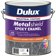 Dulux Metalshield 4L White Base Topcoat Epoxy Enamel Paint