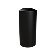 Melro 1005L Poly Round Water Tank - Black