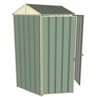 Build-a-Shed 0.8 x 1.5 x 2.3m Gable Double Hinged Side Doors Shed - Green