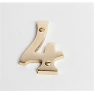 Sandleford 75mm 4 Solid Brass Numeral