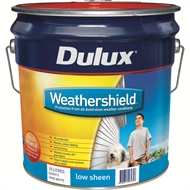 Dulux Weathershield 15L Low Sheen Vivid White Exterior Paint