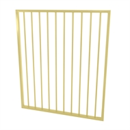 Protector Aluminium 975 x 1200mm Flat Top Garden Gate - To Suit Gudgeon Hinges - Primrose