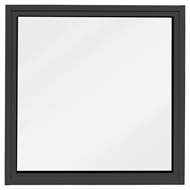 Polar Eco-View Windows 600 x 600mm Black Frosted Glass Fixed Panel Double Glazed Window