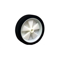 Ambassador 150mm Black Rubber Tyre With White Plastic Centre