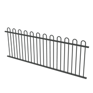 Protector Aluminium 2450 x 900mm Loop Top Fence Panel - Monument