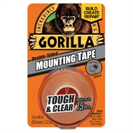 Gorilla 1.5m Mounting Tape Clear