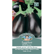 Mr Fothergill's Black Beauty Eggplant Vegetable Seeds