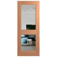 Hume Doors & Timber 2040 x 820 x 40mm Joinery Clear Glass External Door